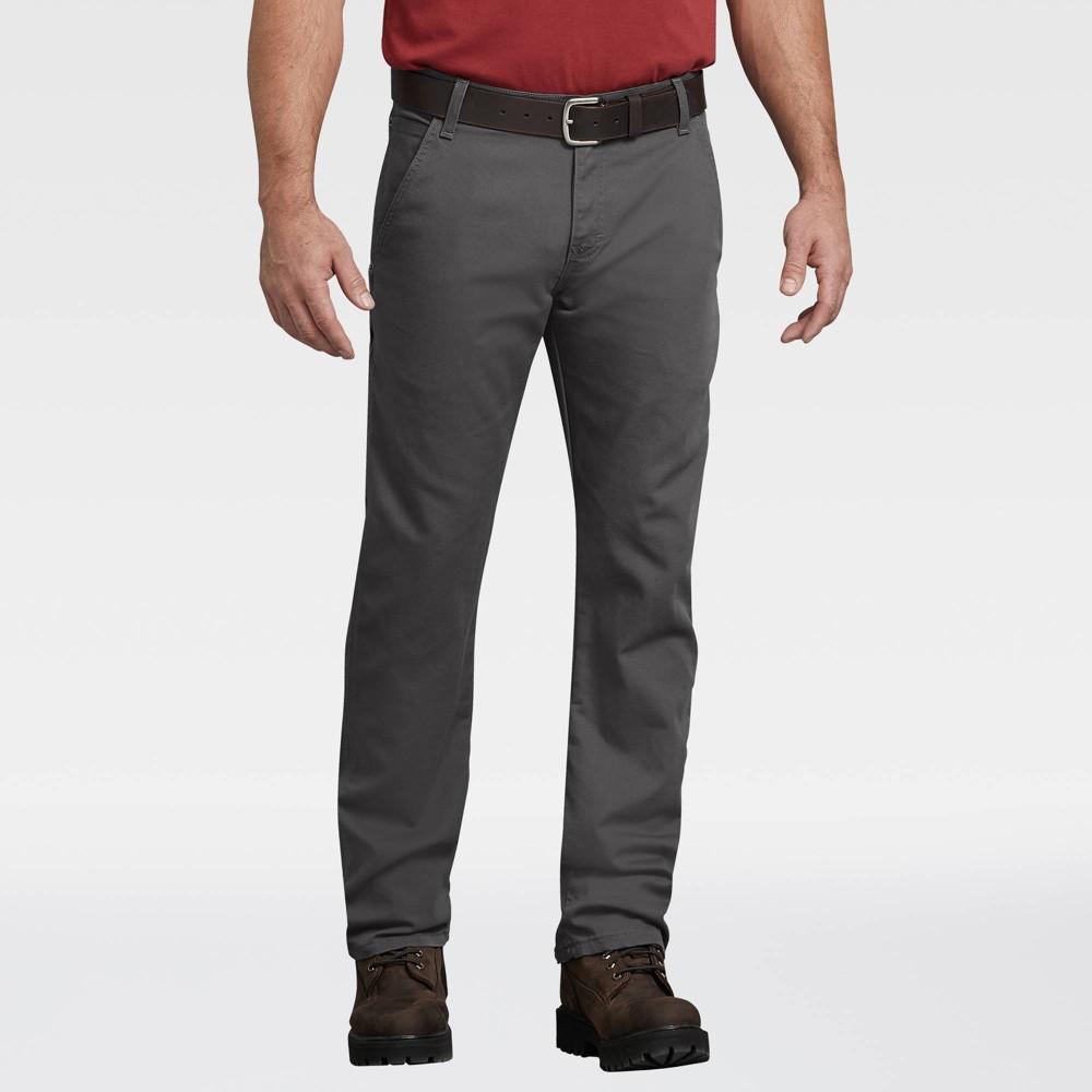 Dickies Men 39 S Flex Regular Fit Straight Leg Tough Max Duck Carpenter Pants Stonewash Gray 36x32