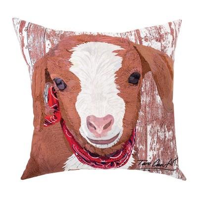 C F Home 18 X 18 Goat Indoor Outdoor Pillow Target