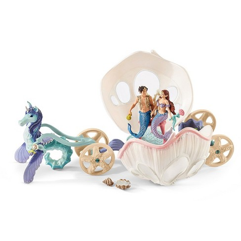 Schleich Bayala Royal Seashell Carriage Fantasy Character Playset - image 1 of 11