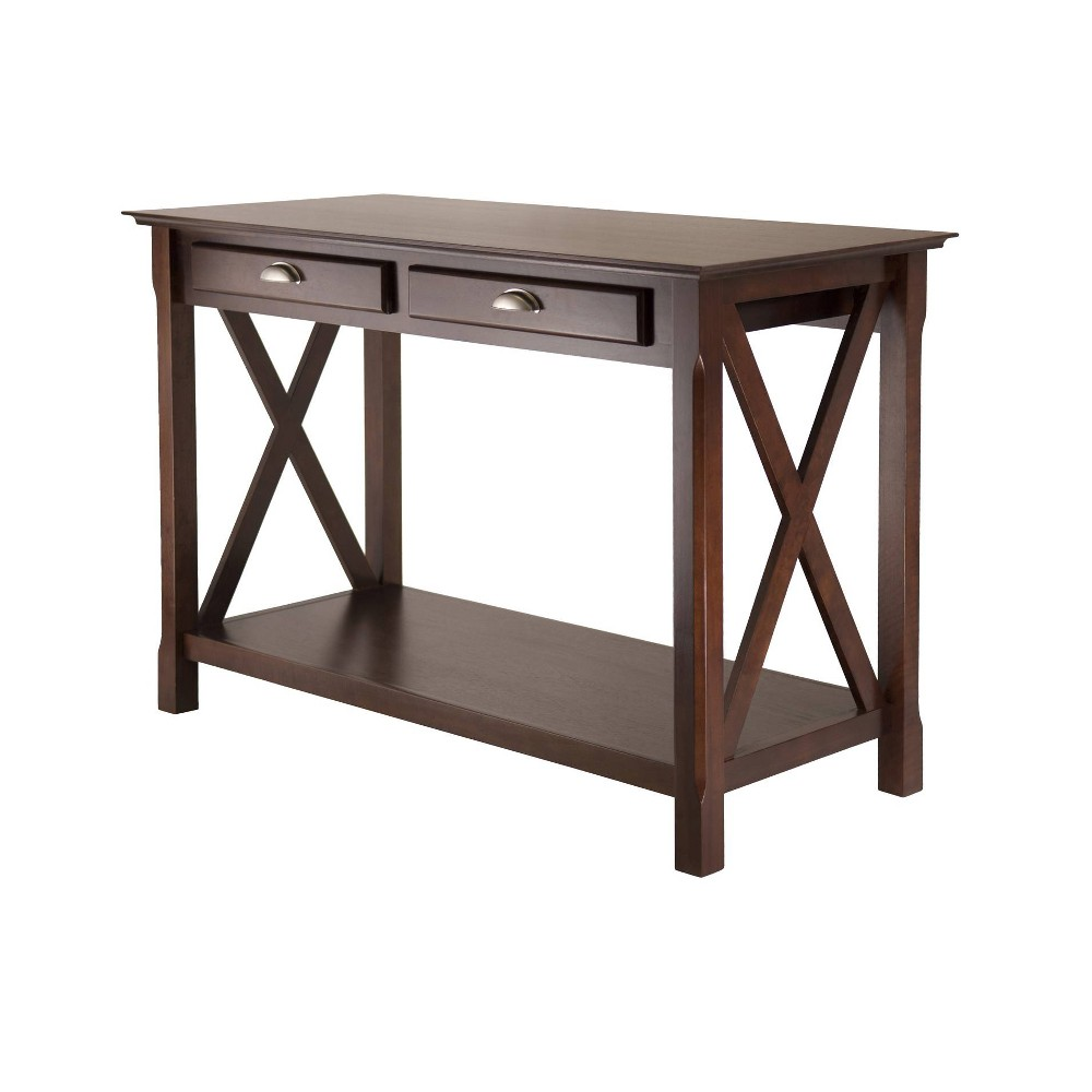 Image of Xola Console Table with 2 Drawers - Cappuccino - Winsome