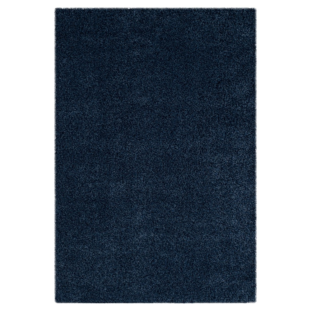 Navy (Blue) Solid Loomed Area Rug - (5'3