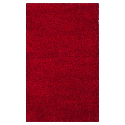 Red Solid Loomed Area Rug - (4'x6')- Safavieh®