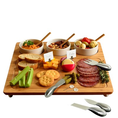 Picnic at Ascot Bamboo Board for Cheese & Charcuterie