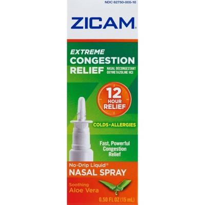 Zicam Extreme Congestion Relief Nasal Spray with Aloe Vera - 0.5 fl oz