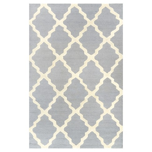 "nuLOOM 100% Wool Hand Hooked Marrakech Trellis Area Rug - Blue (8' 6"" x 11' 6"") - image 1 of 3"