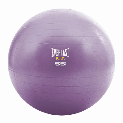 Everlast Fit Stability Ball with Pump - Purple (55cm)