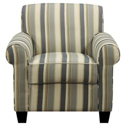 Wendy Rounded Arm Chair & Ottoman -  Handy Living