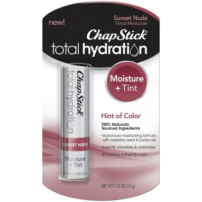 Chapstick Total Hydration Moisture + Tinted Lip Balm - Sunset Nude - 0.12oz