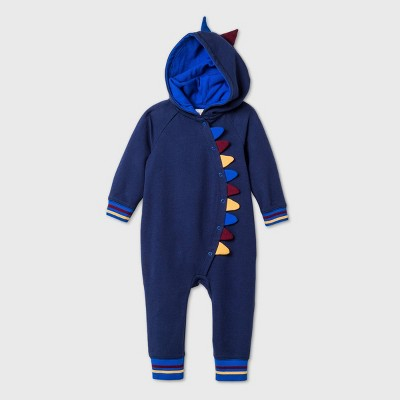 Baby Boys' Dino Romper - Cat & Jack™ Midnight Blue 0-3M