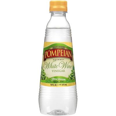 Pompeian Gourmet White Wine Vinegar - 16 fl oz