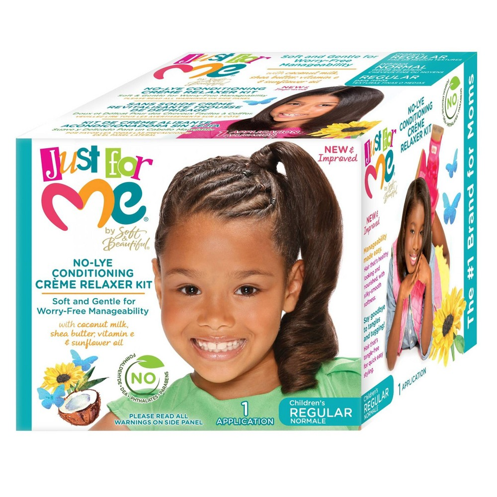 Image of Just For Me No-Lye Conditioning Crème Relaxer Kit