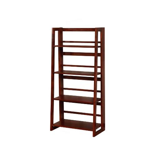 48 Dolce Four Shelf Folding Bookcase Linon Target