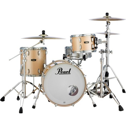 Pearl Vintage Hybrid Wood Fiberglass Series 3-Piece Shell Pack with 20 in. Bass Drum Platinum Mist - image 1 of 4