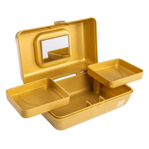 caboodles makeup bags and organizers pretty in petite gold shimmer