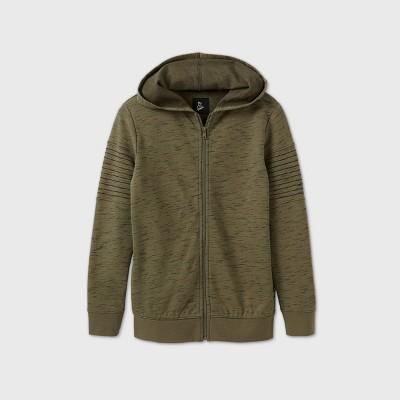 Boys' Moto Sleeve Hoodie Sweatshirt - art class™ Green