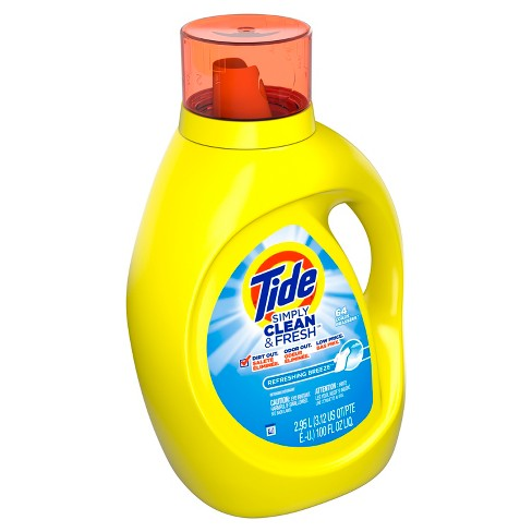 Tide Simply Clean & Fresh Refreshing Breeze Liquid Laundry Detergent - 100 fl oz - image 1 of 10