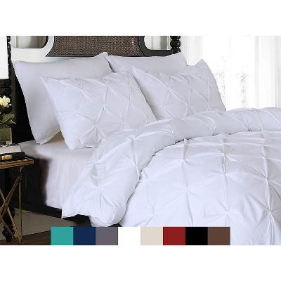 Elegant Comfort Luxury Premium Hotel Quality Pintuck Design 3-Piece Duvet Cover Set with Shams.