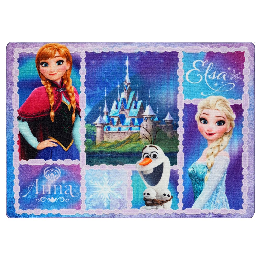 Image of Frozen Anna Purple Rug (5'x7')
