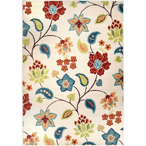 Orian Rugs Garden Chintz Promise Transitional Area Rug - Ivory - image 1 of 7