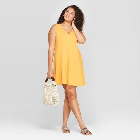 Women's Plus Size Sleeveless U-Neck Tank Dress - Universal Thread™ - image 1 of 3