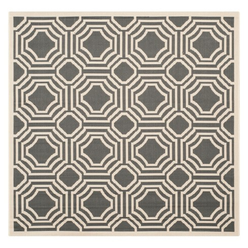 Hamina Patio Rug - Anthracite / Beige - Safavieh® - image 1 of 1