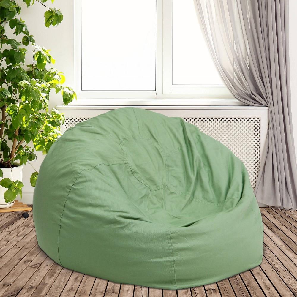 Oversized Bean Bag Chair - Green - Flash Furniture
