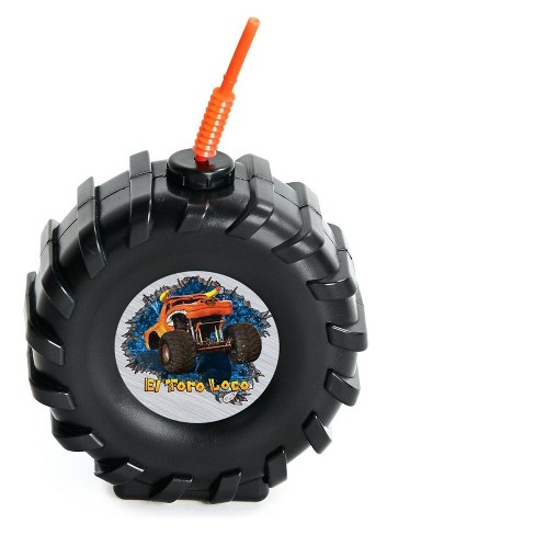 4ct Monster Jam Tire Cup & Straw - image 1 of 1