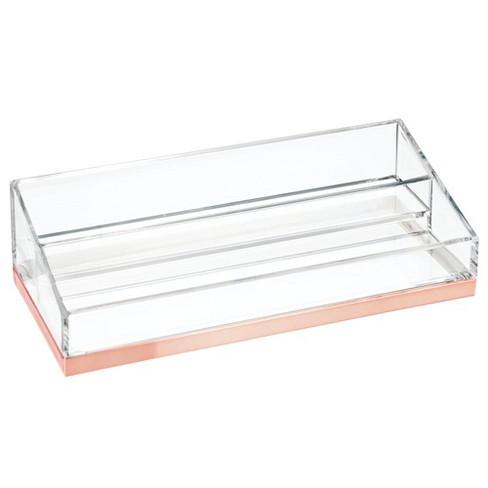 Mdesign Plastic Bath Vanity 2 Tier Cosmetic Makeup Organizer Target