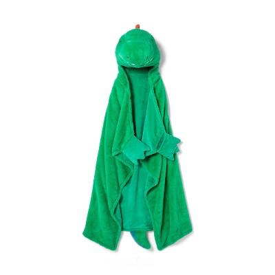 Dino Hooded Blanket Green - Pillowfort™