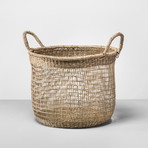 natural open weave basket opalhouse target