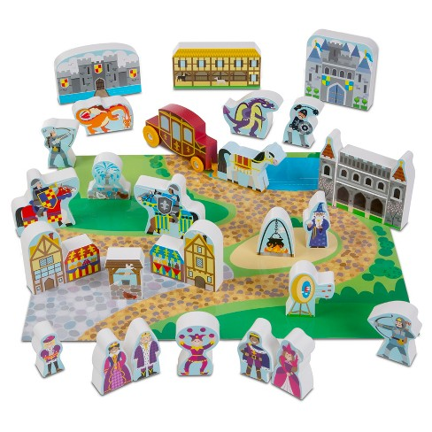 Melissa & Doug® Wooden Castle Play Set - image 1 of 4
