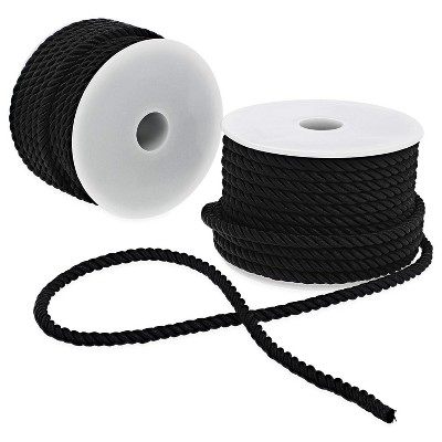 Bright Creations 2 Pack 36 Yards Black Craft Rope Twine Cord, Twisted Trim String