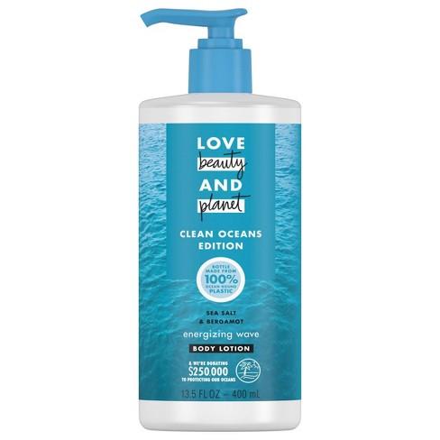 Love Beauty and Planet Sea Salt & Bergamot Energizing Wave Body Lotion - 13.5 fl oz - image 1 of 4