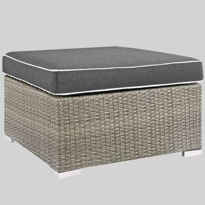 Repose Outdoor Fabric Patio Ottoman - Modway