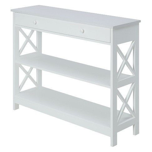 Oxford 1 Drawer Console Table White - Johar - image 1 of 4