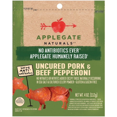 Applegate Natural Uncured Pork & Beef Pepperoni - 4oz - image 1 of 2