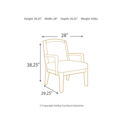 Yvette Showood Accent Chair Black   Signature Design By Ashley : Target