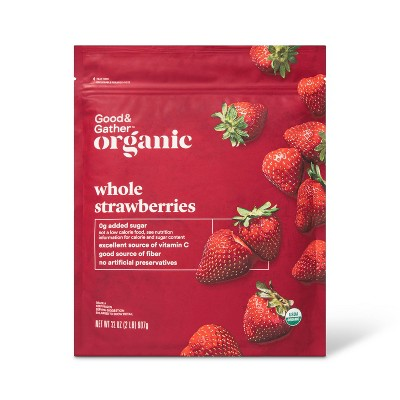 Organic Frozen Strawberries - 32oz - Good & Gather™