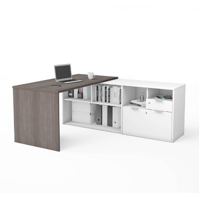 I3 Plus L Desk with Two Drawers - Bestar