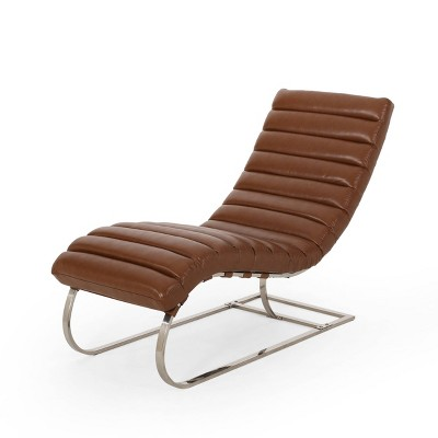 Pearsall Modern Channel Stitch Chaise Lounge - Christopher Knight Home