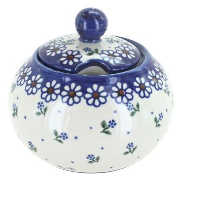 Blue Rose Polish Pottery Jubilee Large Sugar Bowl