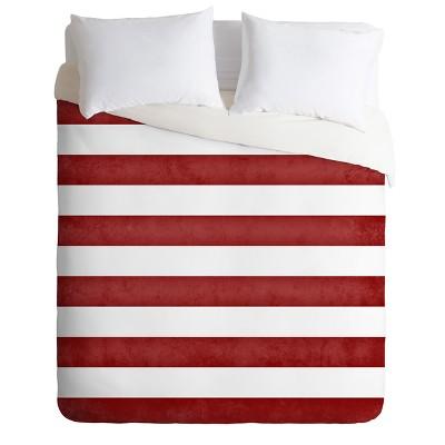 Monika Strigel Farmhouse Shabby Stripes Red