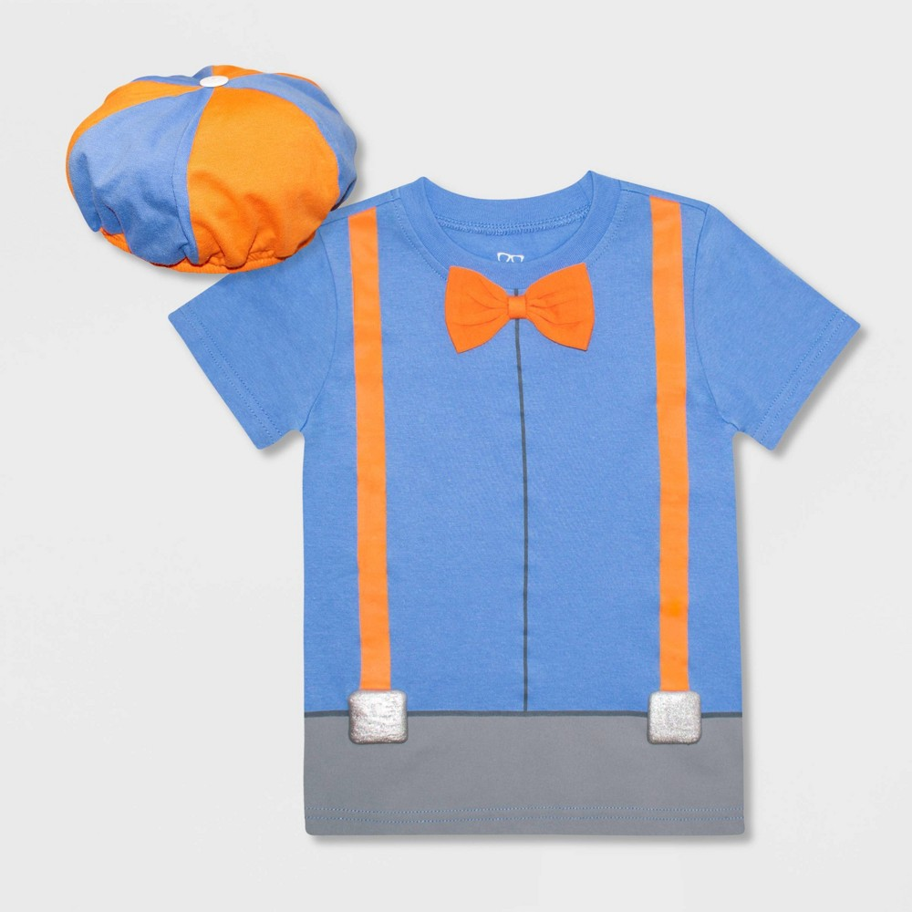 Toddler Boys 39 Blippi Short Sleeve Graphic T Shirt And Hat Blue 3t