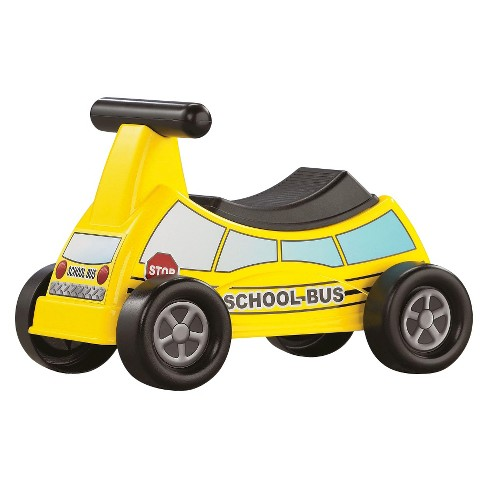 American Plastic Toys School Bus Ride-On Vehicle - image 1 of 2