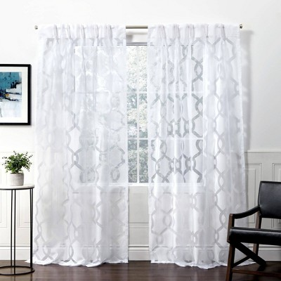 Rio Pinch Pleated Sheer Window Curtain Panels - Exclusive Home
