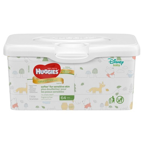 huggies natural care baby wipes unscented 64ct target
