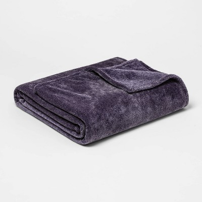 Full/Queen Microplush Bed Blanket Purple - Threshold™