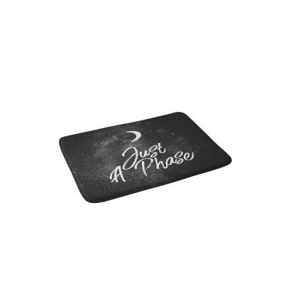 Chelsea Victoria Just A Phase Lunar Memory Foam Bath Mat Black/White - Deny Designs