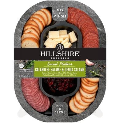 Hillshire Snacking Social Platters Genoa Salame & Calabrese Salame- 12.5oz