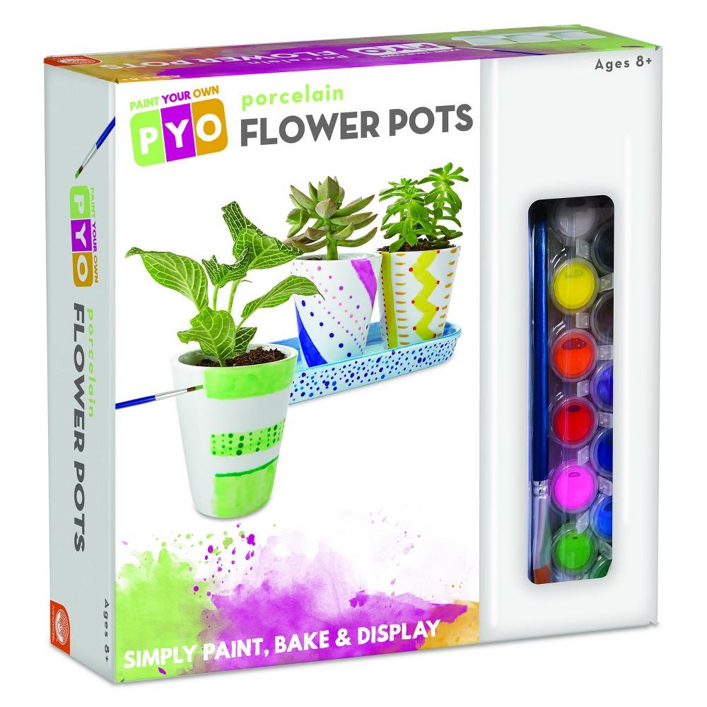 Image of MindWare Paint Your Own Porcelain Flower Pots